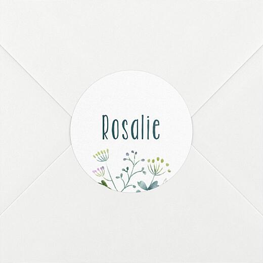 Stickers Naissance Bouquet sauvage bleu - Vue 2
