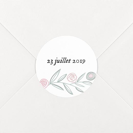 Stickers pour enveloppes naissance Douceur champêtre blanc - Vue 2