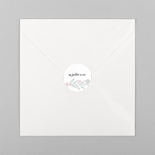 Stickers pour enveloppes naissance Douceur champêtre blanc - Vue 1