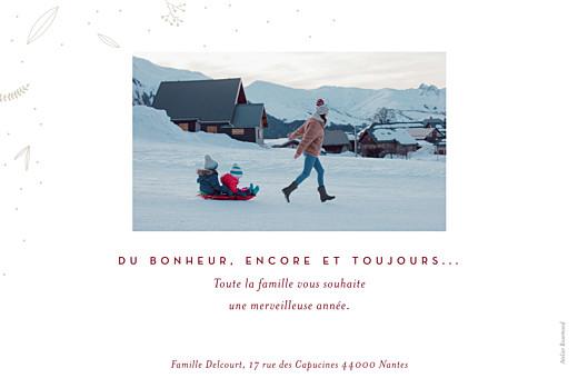Carte de voeux Elegant feuillage (dorure) rv rouge - Page 2