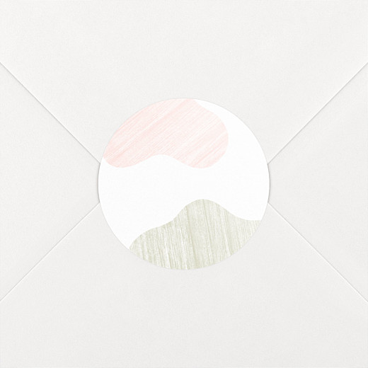 Stickers Naissance Galet rose - Vue 2