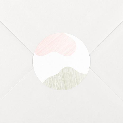 Stickers pour enveloppes naissance Galet rose - Vue 2