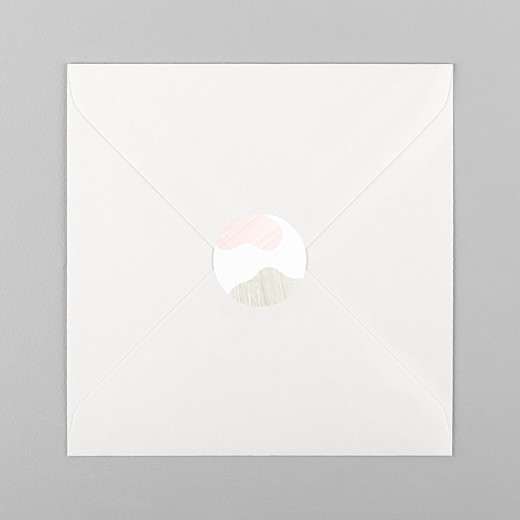 Stickers Naissance Galet rose - Vue 1