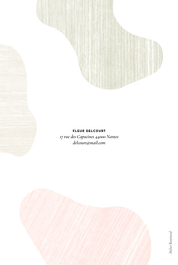 Carte d'invitation anniversaire adulte Galet rose - Page 4