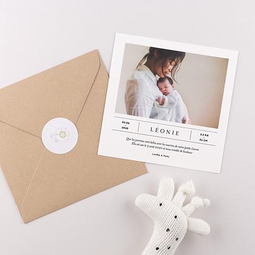 Stickers Naissance Couronne de fleurs blanc - Gamme
