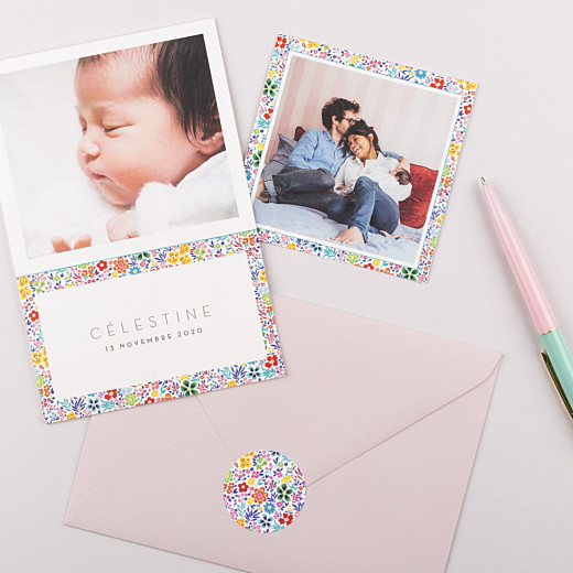 Stickers Naissance Mille fleurs multi-couleur - Gamme