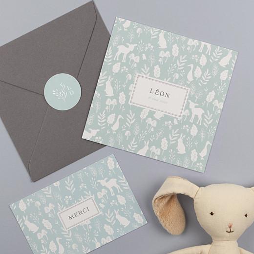 Stickers pour enveloppes naissance Fable bleu - Gamme