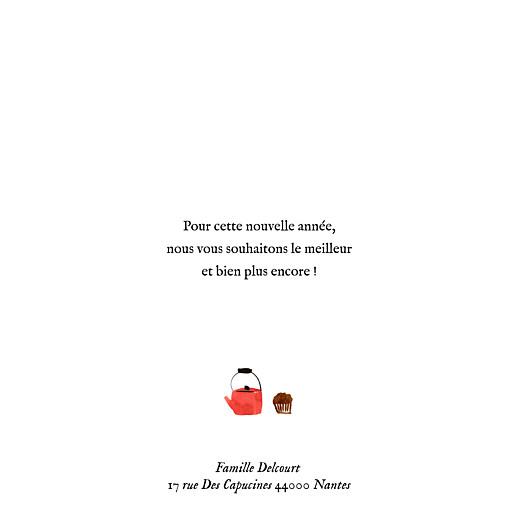 Carte de voeux Petite ronde de noël 2 photos blanc - Page 3
