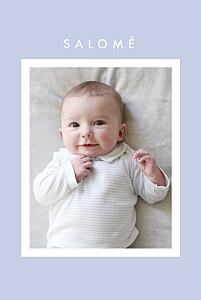 Faire-part de naissance fille corner (dorure) bleu