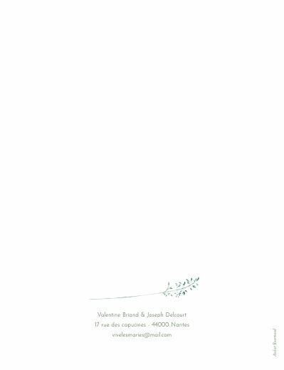Faire-part de mariage Les hautes herbes portrait vert - Page 2