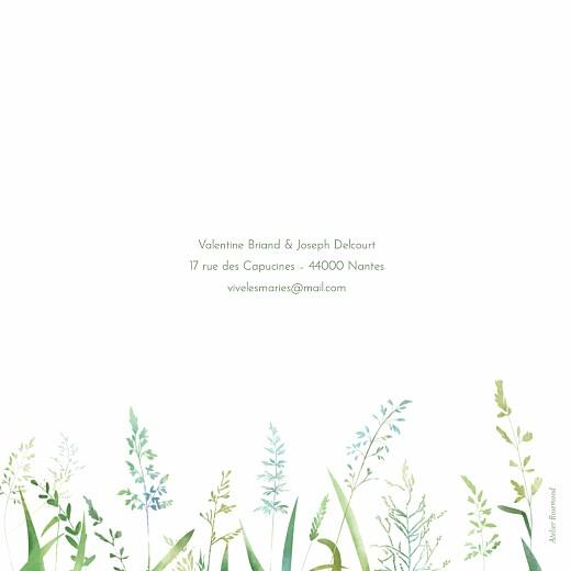 Faire-part de mariage Les hautes herbes vert - Page 4