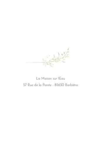 Carton d'invitation mariage Les hautes herbes portrait vert - Page 2