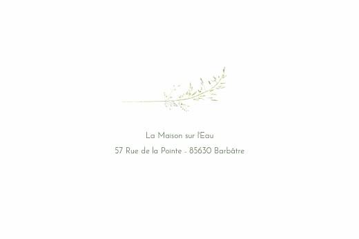 Carton d'invitation mariage Les hautes herbes vert - Page 2