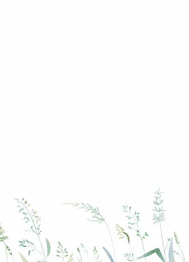 Livret de messe mariage Les hautes herbes vert - Page 2