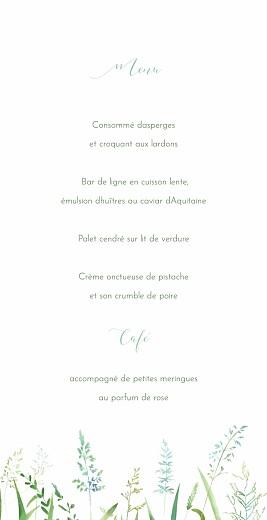 Menu de mariage Les hautes herbes 4 pages vert - Page 3