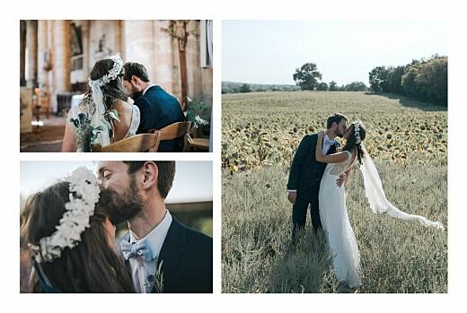 Carte de remerciement mariage Les hautes herbes sable - Page 2