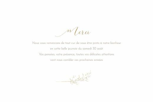 Carte de remerciement mariage Les hautes herbes sable - Page 3