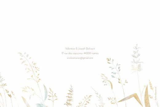 Carte de remerciement mariage Les hautes herbes sable - Page 4