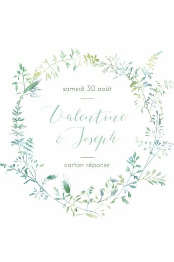 Carton réponse mariage Les hautes herbes portrait vert