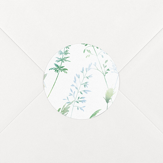 Stickers mariage Les hautes herbes vert - Vue 2