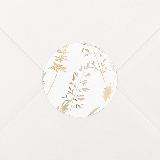 Stickers pour enveloppes mariage Les hautes herbes sable - Vue 2