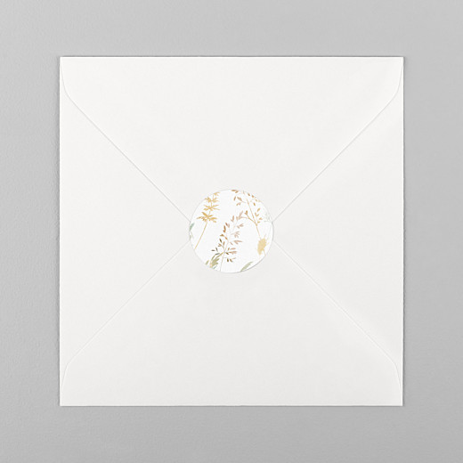 Stickers pour enveloppes mariage Les hautes herbes sable - Vue 1