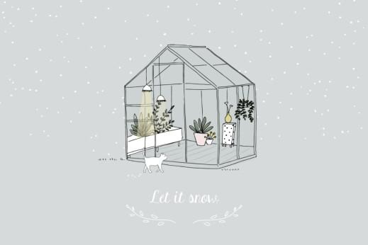 Carte de voeux Jardin d'hiver