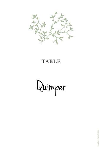 Marque-table mariage Reflets dans l'eau vert clair - Page 2