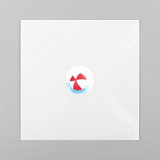 Stickers Naissance Le petit baigneur blanc - Vue 1