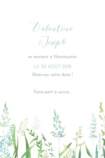 Save the Date Les hautes herbes vert - Page 2