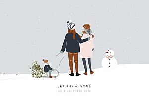 Faire-part de naissance my lovely thing  winter family (2 enfants) 1