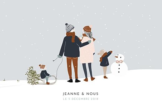 Faire-part de naissance Winter family (3 enfants) 1