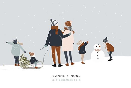 Faire-part de naissance Winter family (5 enfants) 1