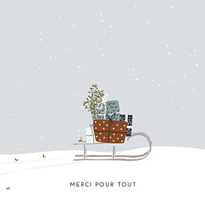 Carte de remerciement moderne merci winter family 2
