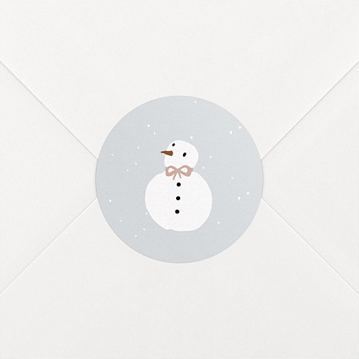 Stickers Naissance Winter family bonhomme - Vue 2