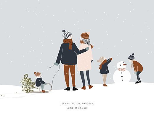 Affichette Winter family 3 enfants 1 - Page 1