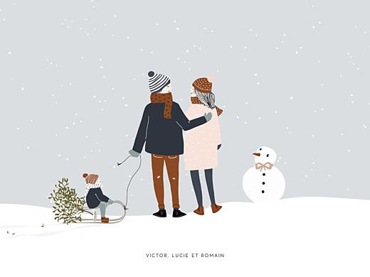 Affichette Winter family (1 enfant) 1 - Page 1