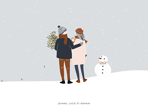 Affichette Winter family 1 enfant (baby) 1 - Page 1