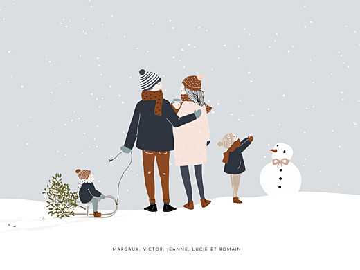 Affichette Winter family 3 enfants (baby) 1 - Page 1