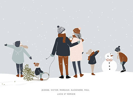 Affichette Winter family 5 enfants (baby) 1 - Page 1