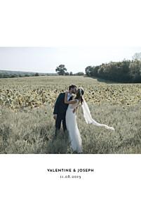 Carte de remerciement mariage dorure galerie 1 photo (dorure) blanc