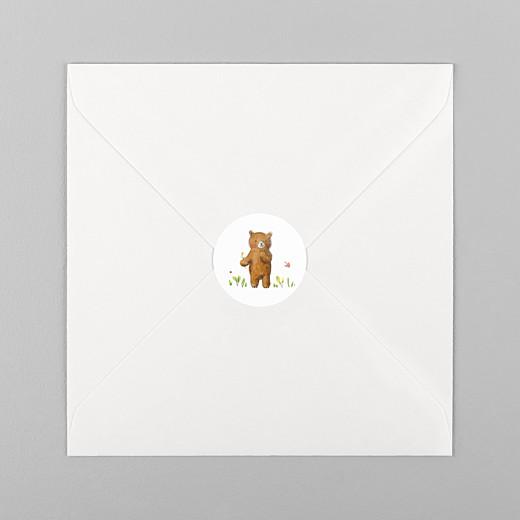 Stickers Naissance Ours en famille blanc - Vue 1