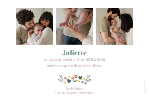 Faire-part de naissance Fleurs de saison 4 photos été - Page 2