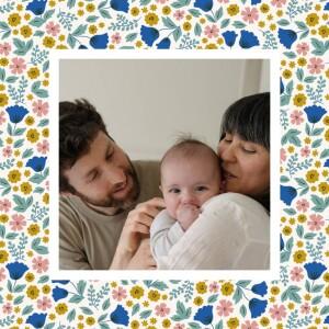 Faire-part de naissance Fleurs de saison (mini format) printemps