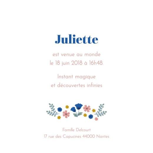 Faire-part de naissance Fleurs de saison (mini format) printemps - Page 3