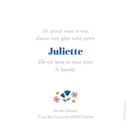 Carte de remerciement Petites fleurs de saison printemps - Page 2