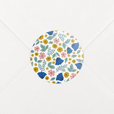 Stickers naissance fleurs de saison printemps