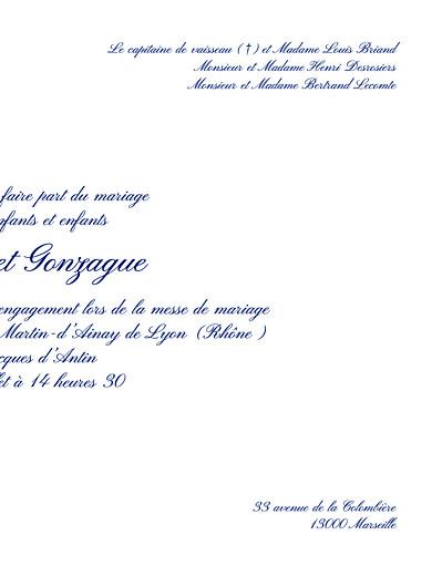Faire-part de mariage Grand élégant blanc - Page 3