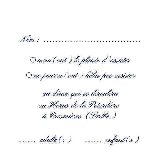 Carton réponse mariage Élégant blanc