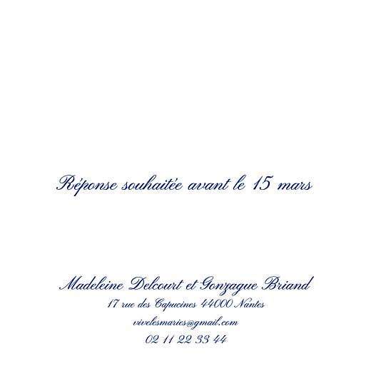 Carton réponse mariage Élégant blanc - Page 2